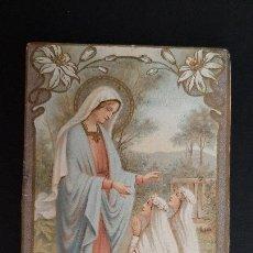 Postales: ANTIGUA ESTAMPA RELIGIOSA VIRGEN MARIA ORIGINAL ESJ 1155. Lote 211599465