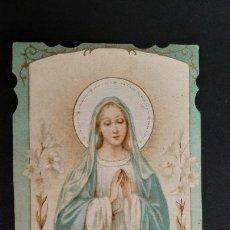 Postales: ANTIGUA ESTAMPA RELIGIOSA VIRGEN INMACULADA CONCEPCION CARCAGENTE 1925 ORIGINAL ESJ 1156. Lote 211599671