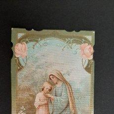 Postales: ANTIGUA ESTAMPA RELIGIOSA VIRGEN MARIA MODERNISTA ORIGINAL ESJ 1157. Lote 211599955