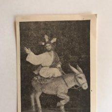 Postales: ALGEMESI (VALENCIA) ESTAMPA RECUERDO BENDICION DE LA IMAGEN. COFRADÍA DE CRISTO REY (A.1957). Lote 211600117