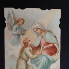 Postales: ANTIGUA ESTAMPA RELIGIOSA VIRGEN MARIA ORIGINAL ESJ 1161. Lote 211600370