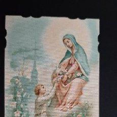 Postales: ANTIGUA ESTAMPA RELIGIOSA VIRGEN MARIA ORIGINAL ESJ 1162. Lote 211600450