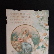 Postales: ANTIGUA ESTAMPA RELIGIOSA VIRGEN MARIA PLEGARIA ORIGINAL ESJ 1164. Lote 211600630