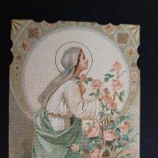 Postales: ANTIGUA ESTAMPA RELIGIOSA VIRGEN MARIA ROSA MISTICA ORIGINAL ESJ 1167. Lote 211600991