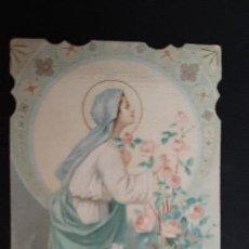 Postales: ANTIGUA ESTAMPA RELIGIOSA VIRGEN MARIA ROSA MISTICA 1912 ORIGINAL ESJ 1167A. Lote 211601032