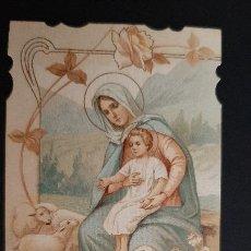 Postales: ANTIGUA ESTAMPA RELIGIOSA VIRGEN MADRE SALVADORA ORIGINAL ESJ 1169. Lote 211601252