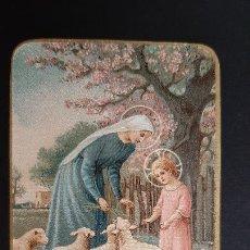 Postales: ANTIGUA ESTAMPA RELIGIOSA VIRGEN MADRE SALVADORA ORIGINAL ESJ 1170. Lote 211601346
