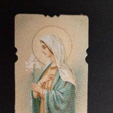 Postales: ANTIGUA ESTAMPA RELIGIOSA VIRGEN REINA ORIGINAL ESJ 1171A. Lote 211601494