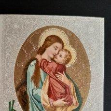 Postales: ANTIGUA ESTAMPA RELIGIOSA VIRGEN MATER AMABILIS ORIGINAL ESJ 1172. Lote 211601577