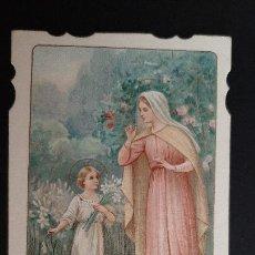 Postales: ANTIGUA ESTAMPA RELIGIOSA VIRGEN MATER CREATORIS ORIGINAL ESJ 1175. Lote 211601876