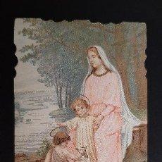 Postales: ANTIGUA ESTAMPA RELIGIOSA VIRGEN MARIA ORIGINAL ESJ 1176A. Lote 211602002