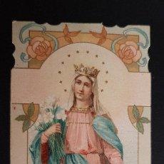 Postales: ANTIGUA ESTAMPA RELIGIOSA VIRGEN MATER CASTISSIMA ORIGINAL ESJ 1177. Lote 211602069