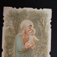 Postales: ANTIGUA ESTAMPA RELIGIOSA VIRGEN MADRE RUEGA POR NOSOTROS ORIGINAL ESJ 1180. Lote 211602552