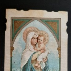 Postales: ANTIGUA ESTAMPA RELIGIOSA VIRGEN MADRE RUEGA POR NOSOTROS ORIGINAL ESJ 1181. Lote 211602647