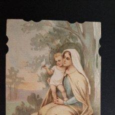 Postales: ANTIGUA ESTAMPA RELIGIOSA VIRGEN MADRE ORIGINAL ESJ 1182. Lote 211602730