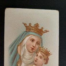 Postales: ANTIGUA ESTAMPA RELIGIOSA VIRGEN IMAGEN DE LA MADRE DE DIOS ORIGINAL ESJ 1184. Lote 211602916