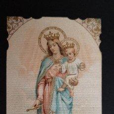 Postales: ANTIGUA ESTAMPA RELIGIOSA VIRGEN MARIA AUXILIADORA ORIGINAL ESJ 1185. Lote 211603006