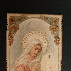 Postales: ANTIGUA ESTAMPA RELIGIOSA VIRGEN MARIA MODERNISTA ORIGINAL ESJ 1186. Lote 211603060