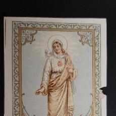 Postales: ANTIGUA ESTAMPA RELIGIOSA VIRGEN CORAZON DE MARIA ORIGINAL ESJ 1193A. Lote 211603894