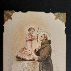 Cartes Postales: ANTIGUA ESTAMPA RELIGIOSA SAN ANTONIO DE PADUA ORIGINAL ESJ 1223. Lote 211684101