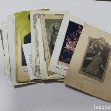 Postales: LOTE DE 25 ESTAMPITAS RELIGIOSAS. VARIADAS. VER FOTOS.. Lote 212350607