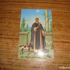 Cartes Postales: (ALB-TC-199) ANTIGUA ESTAMPA RELIGIOSA SAN MARTIN DE PORRES CON ORACION. Lote 212882005