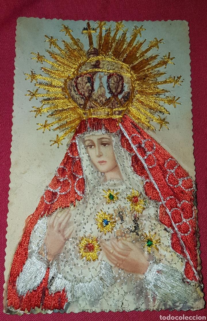 ANTIGUA POSTAL DE VIRGEN VALENCIA BORDADA W (Postales - Postales Temáticas - Religiosas y Recordatorios)