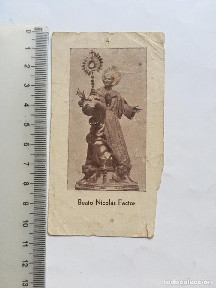 ESTAMPA. BEATO NICOLAS FACTOR. (Postales - Postales Temáticas - Religiosas y Recordatorios)