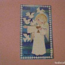Cartes Postales: RECORDATORIO DE LA PRIMERA COMUNIÓN. IL. FERRANDIZ. MALAGA 1968. 12X7 CM.. Lote 214297208