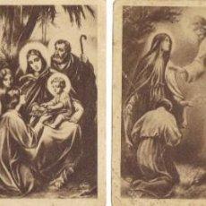 Postales: LOTE 4 ESTAMPITAS RELIGIOSAS ANTIGUAS EN B/N. Lote 214835891