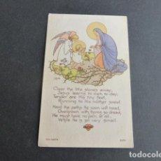 Postais: VIRGEN MARIA Y NIÑO JESUS ANTIGUA ESTAMPA. Lote 216366918