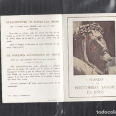 Postales: LETANIAS DE LA PRECIOSA SANGRE DE JESÚS. Lote 217803497