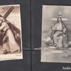 Postales: JESUS CAMINO DEL CALVARIO Y JESUCRISTO REY. 2 ESTAMPAS. Lote 217804768