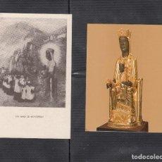 Postales: 2 ESTAMPILLAS DE LA VIRGEN DE MONTSERRAT. Lote 217805907
