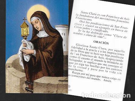 ESTAMPA RELIGIOSA * SANTA CLARA * A.F.A. 1990 (Postales - Postales Temáticas - Religiosas y Recordatorios)