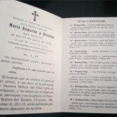 Postales: RECORDATORIO FALLECIMIENTO HUMARAN ARSUAGA 1934. Lote 218421533