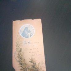 Postales: RECORDATORIO PRIMERA COMUNIÓN 1911 PROTA ESPAÑA. Lote 218560750