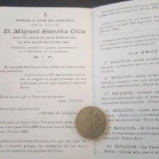 Postales: RECORDATORIO FALLECIMIENTO BUERBA OTIN, SAN SEBASTIÁN 1932. Lote 218560895