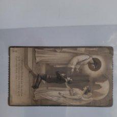 Postales: COMUNION NIÑO IGLESIA DOMINICOS VALENCIA 1926 ANTIGUA ESTAMPA TROQUELADA E8. Lote 218580326