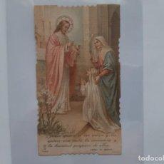 Postales: COMUNION NIÑA COLEGIO SAGRADO CORAZON JESUS VALENCIA 1924 ANTIGUA ESTAMPA TROQUELADA E11. Lote 218581366