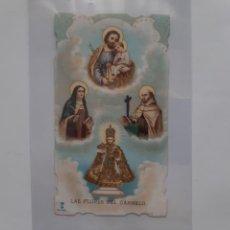 Postales: LAS FLORES DEL CARMELO ANTIGUA ESTAMPA TROQUELADA E13. Lote 218581893