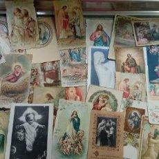 Postales: ESTAMPAS RELIGIOSAS ANTIGUAS ESPECTACULAR LOTE DE 150 UDS. LAS DE LAS FOTOS. Lote 218634236
