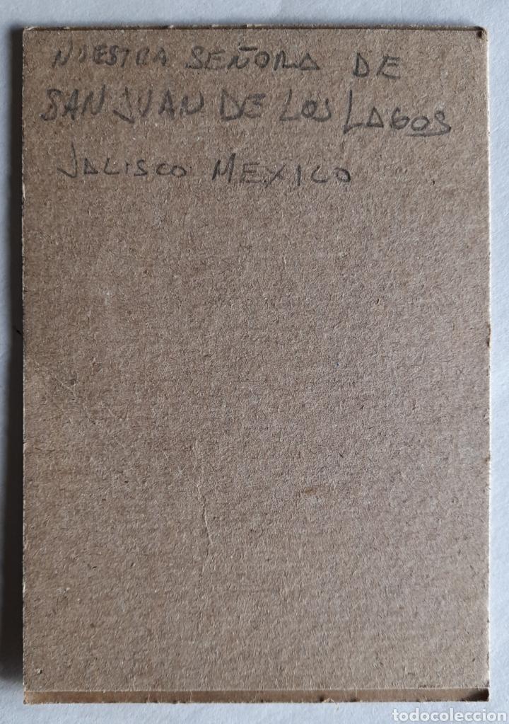 Postales: Estampa enmarcada en cartón de NTRA. SRA. DE SAN JUAN DE LOS LAGOS. JAL. Méx. - Foto 2 - 218792930