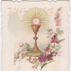 Postais: ESTAMPA TROQUELADA RECUERDO PRIMERA COMUNIÓN - BARCELONA - 1904 - TURGIS FILS. Lote 219149020