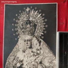 Postales: FOTOGRAFIA ORIGINAL VIRGEN DE LA ESPERANZA MACARENA SEMANA SANTA SEVILLA GARD 18X12 CM. Lote 219841908