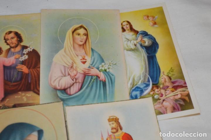 Postales: Lote 24 postales diferentes y antiguas / IMÁGENES RELIGIOSAS / En color - ¡Mira fotos/detalles! - Foto 5 - 220471782