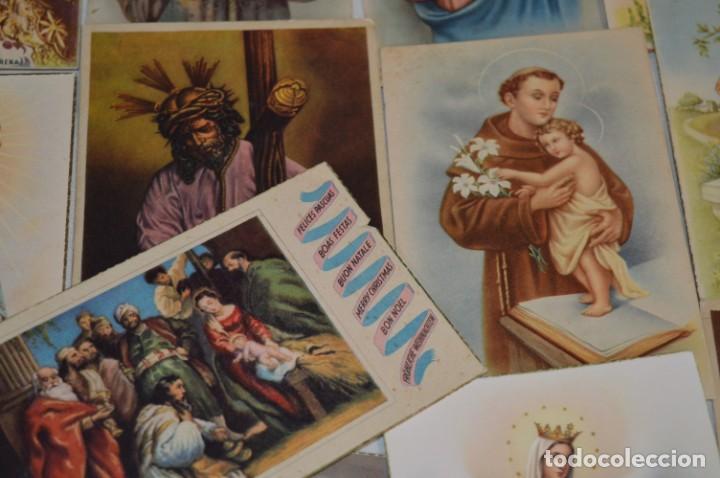 Postales: Lote 24 postales diferentes y antiguas / IMÁGENES RELIGIOSAS / En color - ¡Mira fotos/detalles! - Foto 7 - 220471782