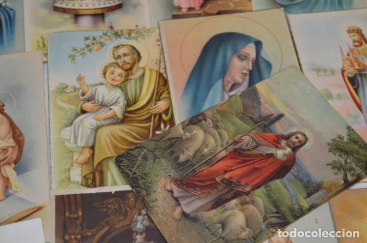 Postales: Lote 24 postales diferentes y antiguas / IMÁGENES RELIGIOSAS / En color - ¡Mira fotos/detalles! - Foto 8 - 220471782