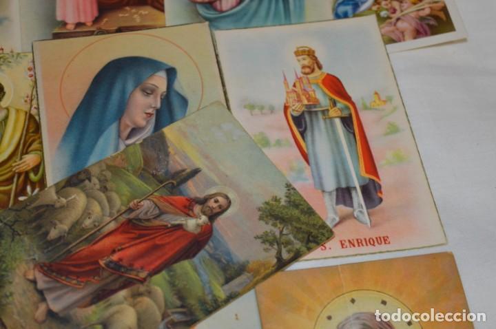 Postales: Lote 24 postales diferentes y antiguas / IMÁGENES RELIGIOSAS / En color - ¡Mira fotos/detalles! - Foto 9 - 220471782