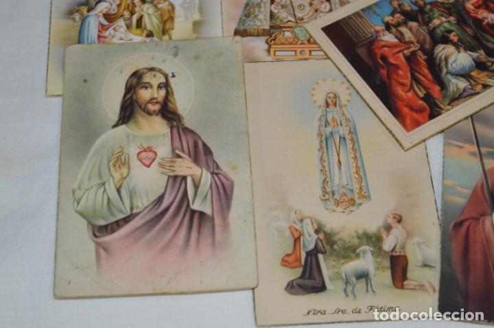 Postales: Lote 24 postales diferentes y antiguas / IMÁGENES RELIGIOSAS / En color - ¡Mira fotos/detalles! - Foto 10 - 220471782